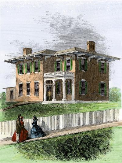 Residence of Ulysses S. Grant in Galena, Illinois. View in 1860s--Giclee Print
