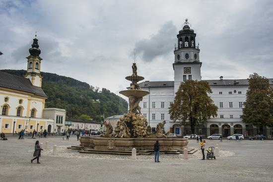 Residence Square in the Historic Heart of Salzburg, Austria, Europe-Michael Runkel-Photographic Print
