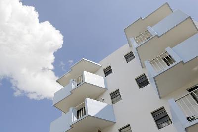 Residential House, Balconies, Art Deco Architecture, Washington Avenue, Miami South Beach-Axel Schmies-Photographic Print