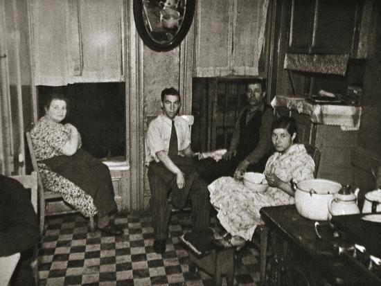 Residents of a tenement, Henry Street, Lower East Side, Manhattan, New York, USA, early 1930s-Unknown-Photographic Print