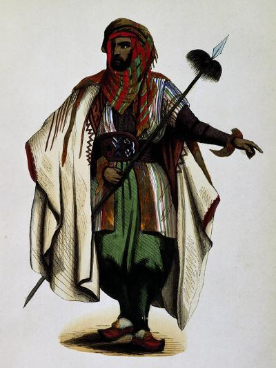 Residents of Mont Liban, Engraving from Dresses and Costumes of All Peoples of World, Asia-Auguste Wahlen-Giclee Print