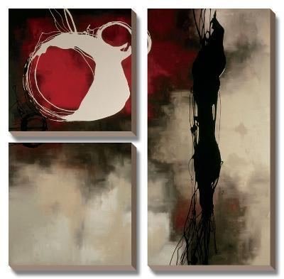 Resonance in Red-Laurie Maitland-Canvas Art Set