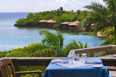 Resort on the Water, Roatan Island, Honduras-Keren Su-Photographic Print