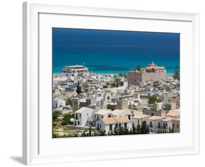 Resort Town View, San Vito Lo Capo, Sicily, Italy-Walter Bibikow-Framed Photographic Print