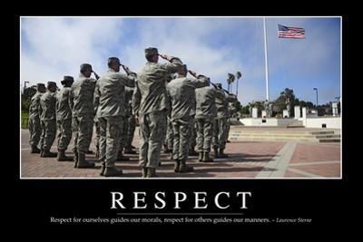 Respect: Inspirational Quote and Motivational Poster
