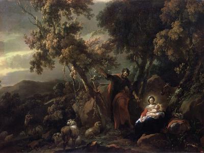 Rest on the Flight into Egypt, 17th Century-Nicolaes Berchem-Giclee Print