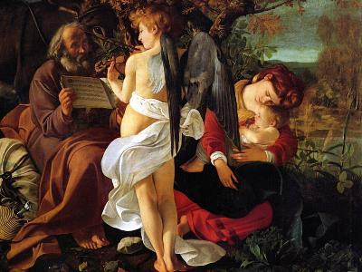 Rest on the Flight into Egypt, Ca. 1597-Caravaggio-Giclee Print