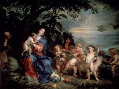 Rest on the Flight into Egypt (Virgin with Partridge), C1629-1630-Sir Anthony Van Dyck-Giclee Print
