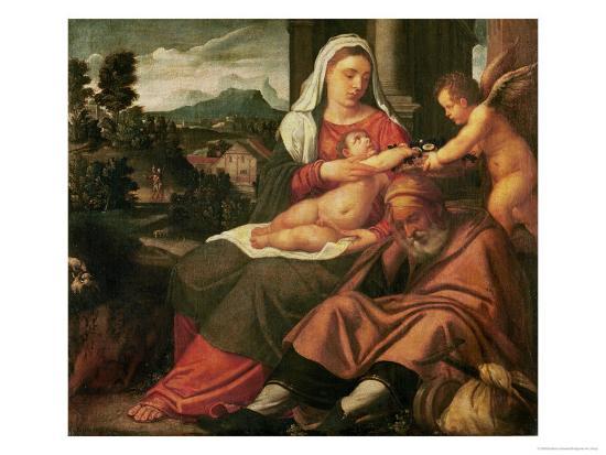 Rest on the Flight Into Egypt-Bonifacio Veronese-Giclee Print