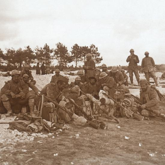 Rest stop, Champagne, northern France, c1914-c1918-Unknown-Photographic Print
