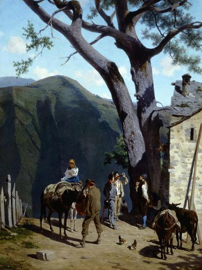 Rest Stop in Mountains-Stefano Bruzzi-Giclee Print