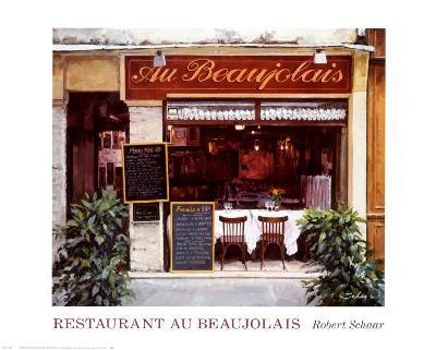 Restaurant au Beaujolais-Robert Schaar-Art Print