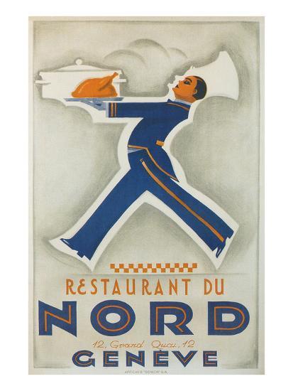 Restaurant Du Nord. Geneve, Switzerland--Art Print
