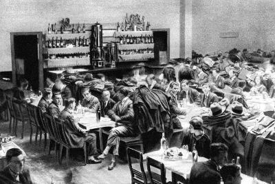 Restaurant for Students, Paris, 1931-Ernest Flammarion-Giclee Print