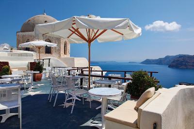 Restaurant in Greece II-Larry Malvin-Photographic Print