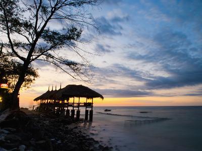 Restaurant on the Beach at Sunset, Gili Trawangan, Gili Islands, Indonesia, Southeast Asia, Asia-Matthew Williams-Ellis-Photographic Print