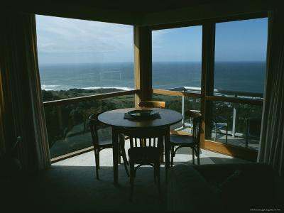 Restaurant Overlooking a Harbor in Victoria, Australia-Sam Abell-Photographic Print