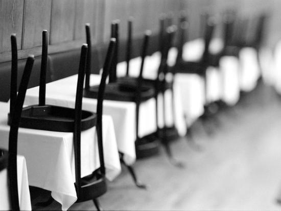 Restaurant Tables in Berne, Switzerland-Walter Bibikow-Photographic Print