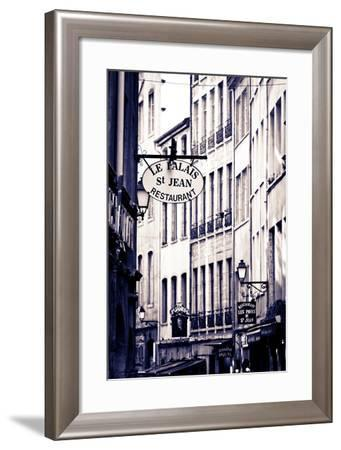 Restaurants and Galleries in Old Town Vieux Lyon, France-Russ Bishop-Framed Photographic Print