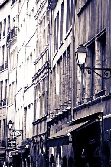 Restaurants and Galleries in Old Town Vieux Lyon, France-Russ Bishop-Photographic Print