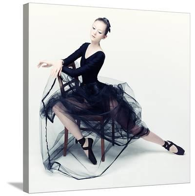 Resting Ballerina--Stretched Canvas Print