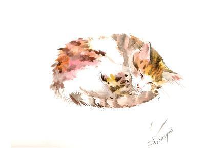 Resting Cat-Suren Nersisyan-Art Print