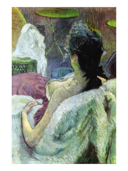 Resting Model-Henri de Toulouse-Lautrec-Art Print
