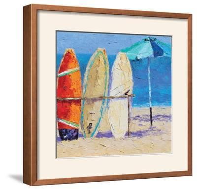 Resting on the Beach II-Leslie Saeta-Framed Photographic Print