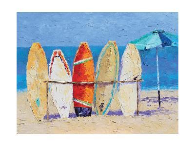 Resting on the Beach-Leslie Saeta-Art Print