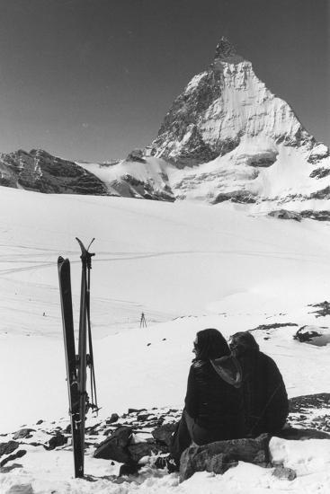 Resting Skiers--Photographic Print