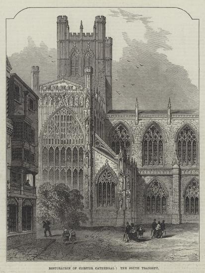 Restoration of Chester Cathedral, the South Transept--Giclee Print