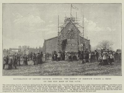 Restoration of Orford Church--Giclee Print