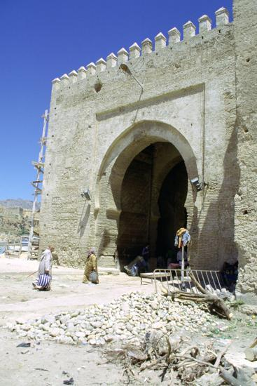 Restoration of the Bab Mahrouk Gate, Morocco-Vivienne Sharp-Photographic Print