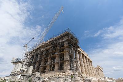 Restoration of the Parthenon, Acropolis-Sergio Pitamitz-Photographic Print
