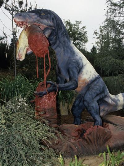 Restoration of Utahraptor, Early Cretaceous, 125 M.Y.A., Utah Dinosaur-Ken Lucas-Photographic Print