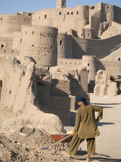 Restoration Work, Arg-E Bam, Bam, Unesco World Heritage Site, Iran, Middle East-David Poole-Photographic Print