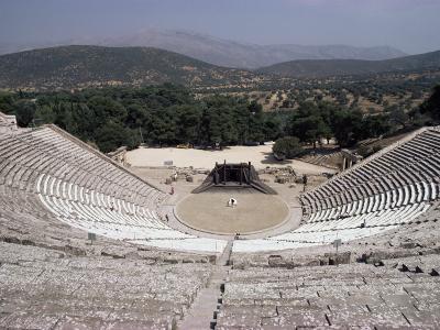 Restored Theatre, Epidaurus, Unesco World Heritage Site, Greece-Jack Jackson-Photographic Print