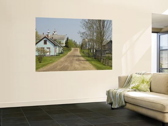 Restored Town to Depict a Typical 19th Century Nova Scotian Village-Stephen Saks-Wall Mural