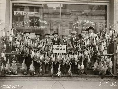 Result of a Duck Shoot Near Houston, Texas, USA, 1921- Litterst Commercial Photo Company-Photographic Print