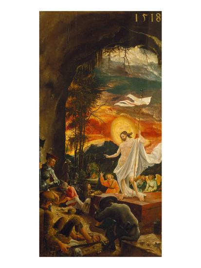 Resurrection of Christ (Exterior Panel of the Predella of the Sebastian Altarpiece), 1518-Albrecht Altdorfer-Giclee Print