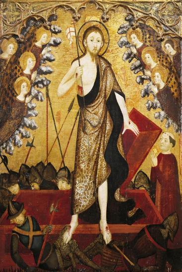 Resurrection of Christ, Panel from Altarpiece of Holy Sepulchre, 1381-1382-Jaime Serra-Giclee Print