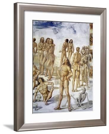Resurrection of Flesh, from Last Judgment Fresco Cycle, 1499-1504-Luca Signorelli-Framed Giclee Print