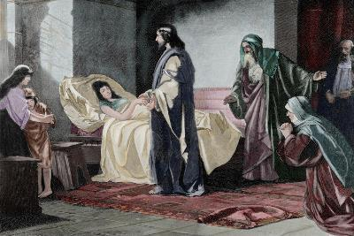 Resurrection of Jairus' Daughter, by Rusing--Giclee Print