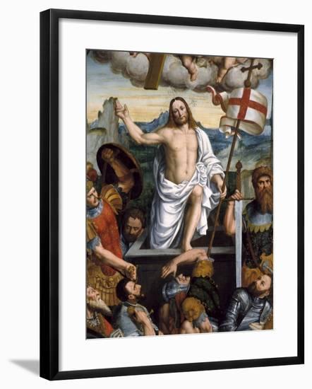 Resurrection of Jesus-Giuseppe Giovenone-Framed Art Print