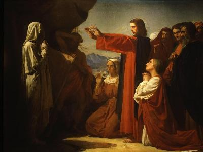 Resurrection of Lazarus-Leon Bonnat-Giclee Print