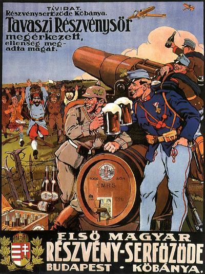 Resveny-Serfozode: Budapest , Hungary Beer, c.1914--Giclee Print