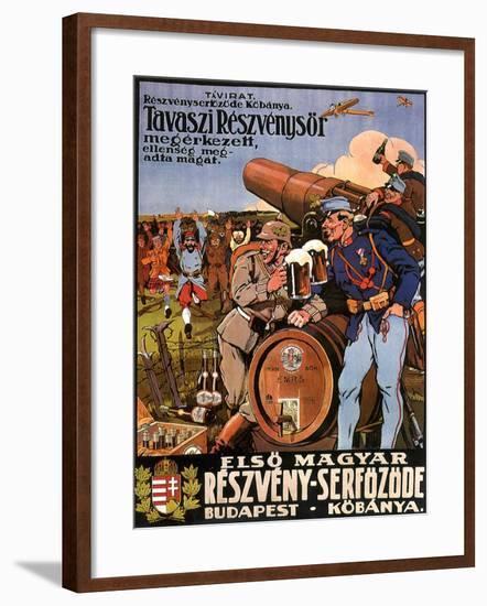 Resveny-Serfozode: Budapest , Hungary Beer, c.1914--Framed Giclee Print