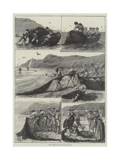 Reta-Fishing on the Corsican Coast--Giclee Print