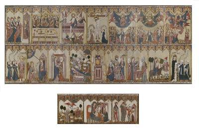 Retable and Frontal of the Life of Christ and the Virgin, Ayala Altarpiece, 1396--Giclee Print