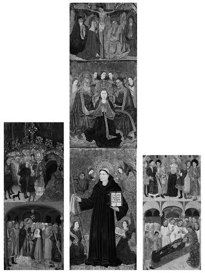 Retable of Saints Athanasius, Blaise, and Agatha, 1440-45- Master of Riglos-Giclee Print
